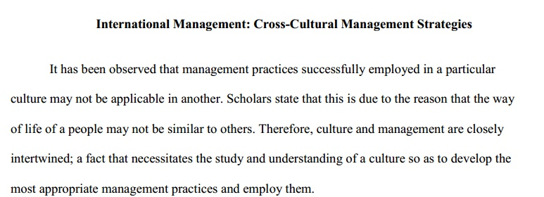 research papers cross cultural management pdf