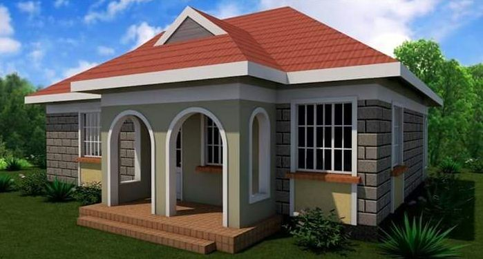 2 bedroom house plan in kenya best two bedroom house for Roofing designs in kenya