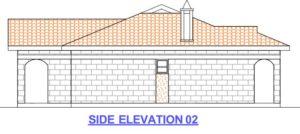 3 bedroom house plan in kenya side elevation