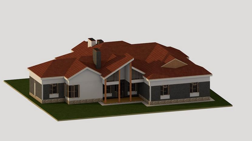 4 Bedroom Bungalow House Plan In Kenya (Certified Engineer Designs)
