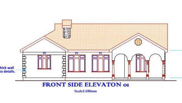 beautiful 3 bedroom house plan in Kenya