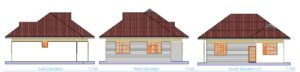 beautiful two bedroom house plan