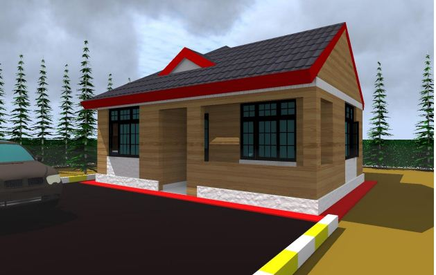 Modern 3 bedroom house plan in kenya best house structure for Cost of building a 3 bedroom house in kenya