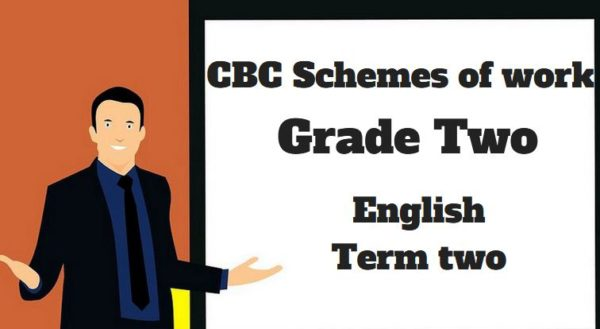 English term 2, grade two, cbc schemes of work