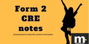 Form two CRE notes
