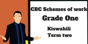 Kiswahili term 2, grade one, cbc schemes of work