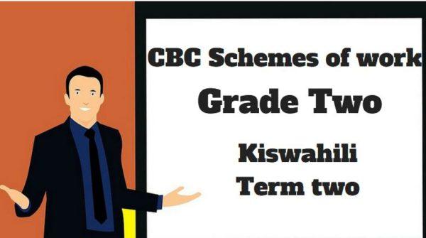 Kiswahili term 2, grade two, cbc schemes of work