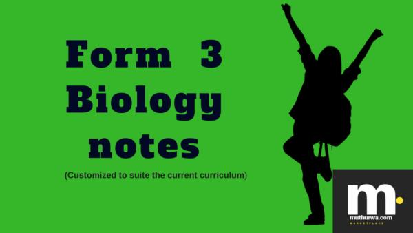 kcse form three biology notes 2018