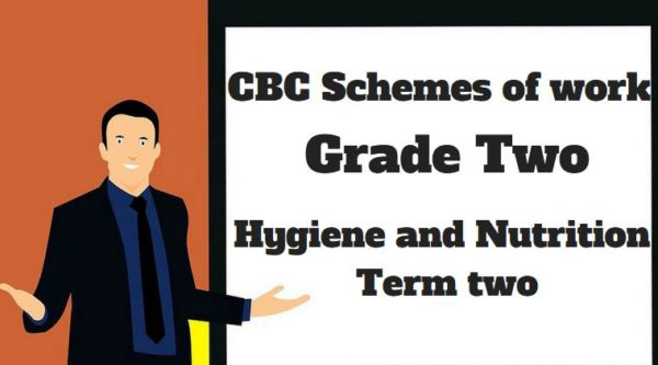 hygiene and nutrition term 2, grade two, cbc schemes of work