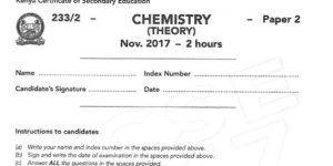 2017 chemistry paper 2 past paper with answers and marking schemes for 2018 candidates revision